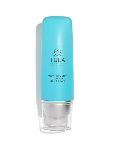 TULA Probiotic Skin Care Aqua Infusion Oil-Free Gel Cream | Moisturizer for Face, Lightweight Water-Based Face Cream to Instantly Hydrate, Oil-Free | 1.7 oz.