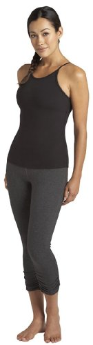 Gathered Cropped Legging (Beyond Yoga Women's Side Gathered Capri Legging, Heather Gray, Small)