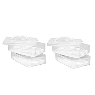 Snap 'N Stack Food Egg 2 Layer, (Pack Of 2)