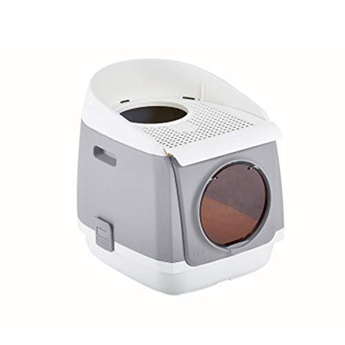 LOVEPET Inodoro Cat Completamente Cerrado De Doble Puerta Caja De Arena Cat Gratis WC Plegable Antideslizante para Gatos 54.9...