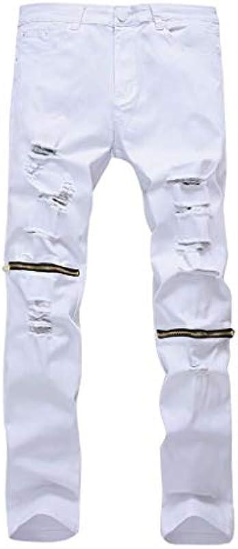 MONDHAUS Męskie Jeanshosen Pants Freizeit Denim Jeans Regular Fit Jeanshose Straight Jogging Freizeithose Slim Traininghose Männer Denim Regular Fit Business Lässige schmalem Bein: Odzież