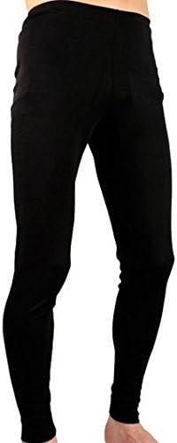 Calzoncillo largo negro hombre 100% algodón T60 frío deporte ...