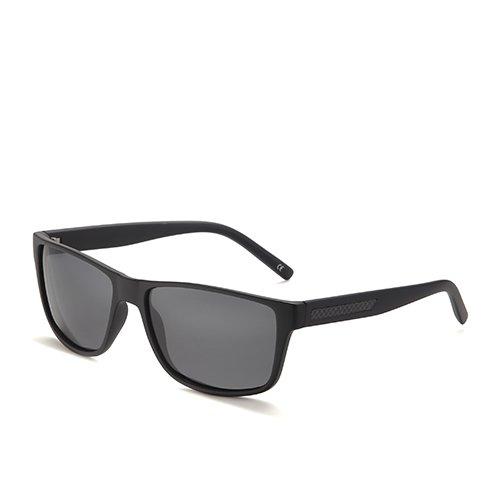 Humo Cuadrado Pesca de Sol Caminante Smoke plástico TL Gafas Hombres de C1 Sol de Black Gafas Sunglasses Matte Gafas polarizadas Hombre de C2 Negro Guía Hwx54f