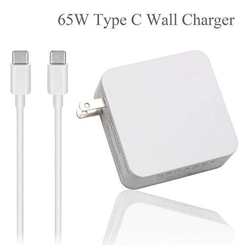 VUOHOEG USB-C 65W Type C Power Adapter Charger Replacement for MacBook/Pro, Lenovo, ASUS, Acer, Dell, Huawei, HP and Other Laptops