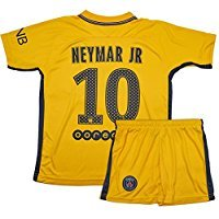 PSG Paris Saint-Germain || No.10 Neymar || Season 2017 2018 Away || Fun Soccer Jersey Set || Kids & Youth Sizes (12-13 Ages || XX-Large) (20 Away Soccer Jersey)