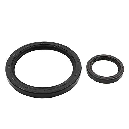 X AUTOHAUX Oil Pump Front Rear Crankshaft Seal Set for Honda 91212-PR3-003 91214-PLE-003