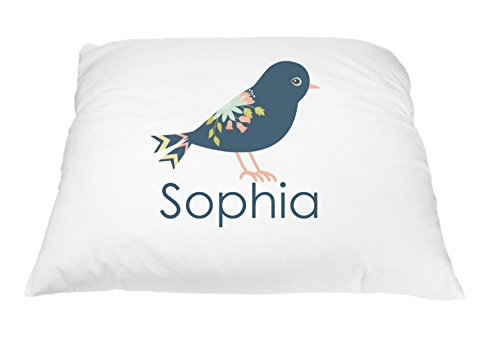 Personalized Kid's Royal Bird Pillowcase Microfiber Polyester 20 by 30 Inches, Bird Décor Pillow Cover, Nature Pillow, Bird Pillow Case, Nature Gift for Bird Lovers, Little Girl Bedroom Décor