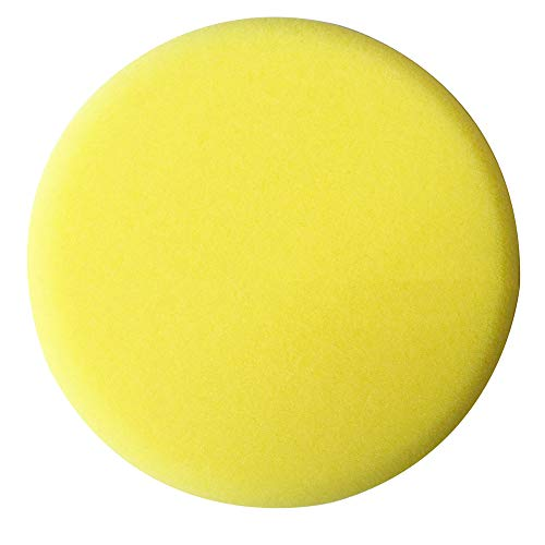 YUSHHO56T Polishing Sponge Car Cleaning And Maintenance Sponge Round Auto Hand Wax Applicator Polishing Sponge Pads Car Care Cleaning Tool - Yellow
