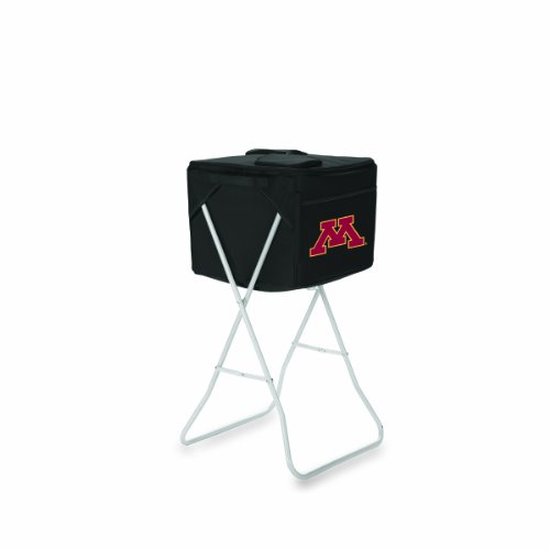 NCAA Minnesota Golden Gophers Black Party Cube Portable Cooler with Stand