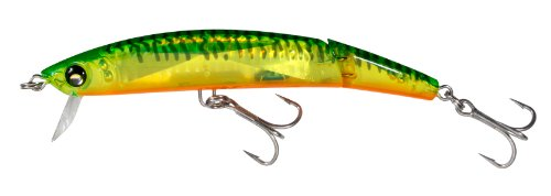 Yo-Zuri Crystal 3D Minnow Jointed Floating Lure, Holographic Hot Tiger, 5 1/4-Inch