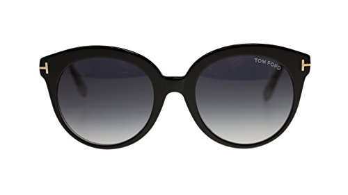 Tom Ford Monica Women's Sunglasses FT0429 03W Black/Blue Gradient Round - Sunglasses Ford Tom Gucci