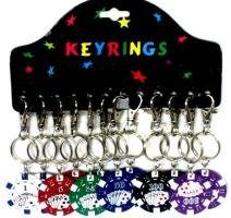 (Poker Chip Key Chain)