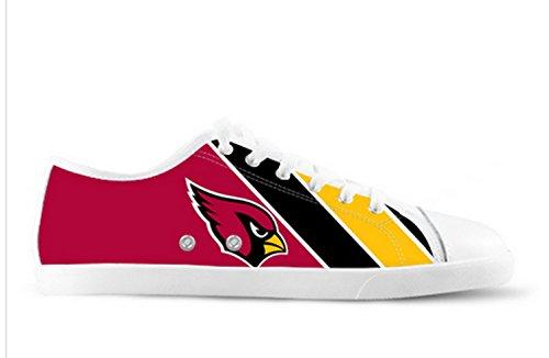Cardinals Logo Ladys Zapatos Antideslizantes De Lona Cardinals Canvas Zapatos04