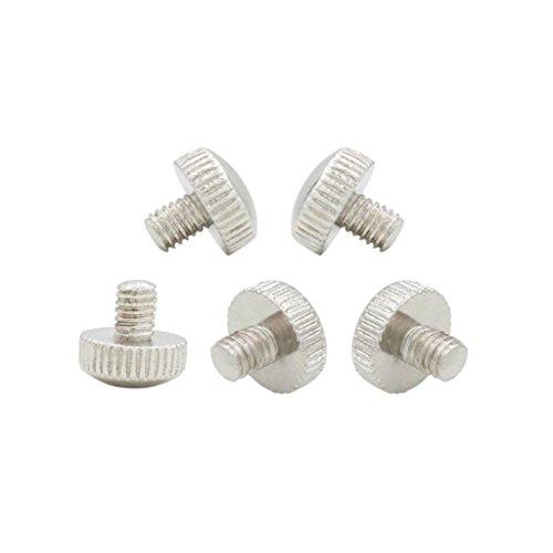 (Homyl Pack of 5 Metal Mount Fix Screws for Trumpet Sliding Finger Ring Parts Silver)