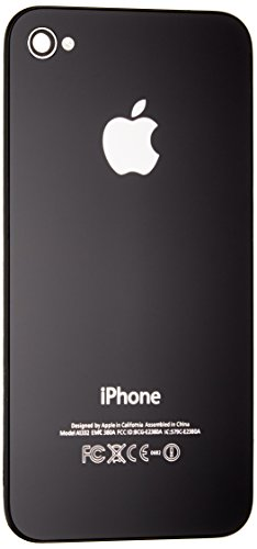 Black Replacement iPhone 4S AT&T Back Glass Fit Only AT&T Models (Gsm Iphone 4 Screen Replacement)
