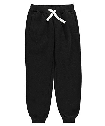 Southpole Big Boys' Boys Active Basic Jogger Fleece Pants, Black, Small (Boys Sweatpants Size 18)