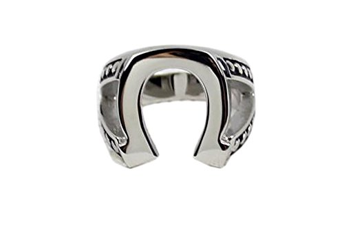 (Justified Horseshoe Ring Marshal Raylan Tv Props Replica Stainless Steel (US 10))