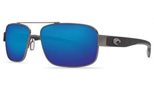 Costa Del Mar Sunglasses - Tower- Glass / Frame: Gunmetal Lens: Polarized Blue Mirror Wave 400 - Tower Sunglasses Costa