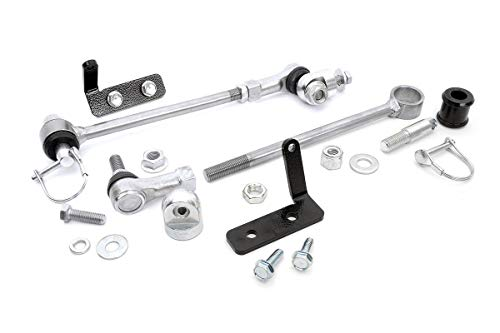 Rough Country 1128 Rough Country-1128-Front Sway Bar Quick Disconnects for 4-6.5-in Lifts for 4WD Jeep: 84-01 XJ, 86-92 Comanche MJ, 93-98 Grand Cherokee ZJ (Jeep Cherokee Sway Bar)