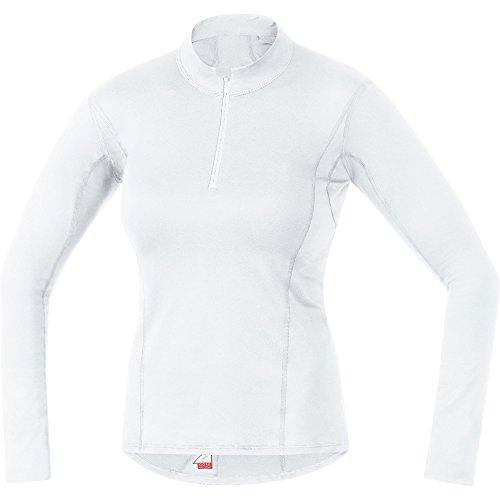 (Gore Bike WEAR Women's Long Sleeve Turtleneck with Short Front Zipper, Gore Selected Fabrics, Baselayer Lady Turtleneck, Size: 40, White, ULTURT)