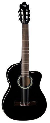 Dean CAE CBK Espana Full Size Classical Caw Acoustic-Electric Guitar, Classic Black