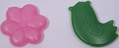 Pottery Barn Kids Pink Flower   Green Bird Cold Freezer Packs