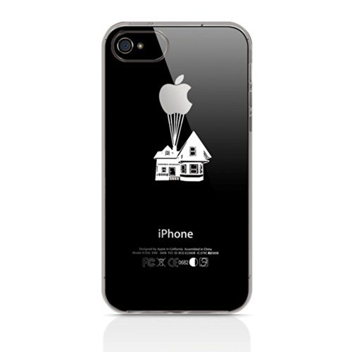 Ahujatech Up Up and Away clair Coque gel pour Apple iPhone 4S/4–Blanc/Silhouette
