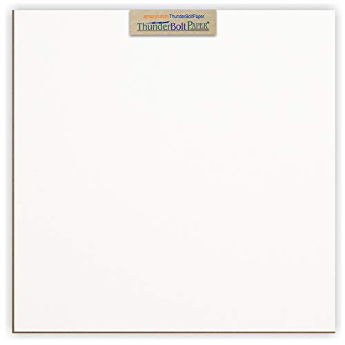 10 Sheets Chipboard 24pt white 1 side - 12