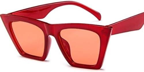 RJGOPL des lunettes de soleil Vintage retro feminino cat eye óculos de sol moda máscaras óculos de grandes dimensões popular cor lente olho de gato óculos senhoras moda uv400 Red