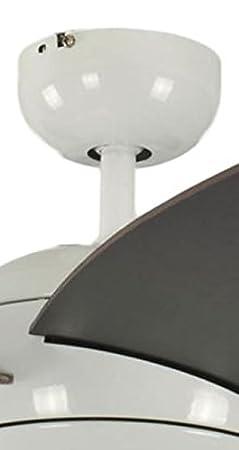 Pepeo Deckenventilator mit Beleuchtung und Fernbedienung Melton Geh/äuse Lack wei/ß 132 cm Fl/ügelfarbe weiss