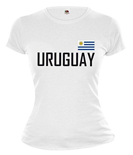 buXsbaum Girlie T-Shirt Uruguay-M-White-