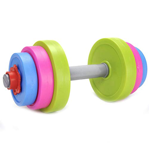 Liberty Imports Adjustable Dumbbell Toy Pretend Workout Set for Kids Gym Exercise - Fill with Beach Sand or Water!]()