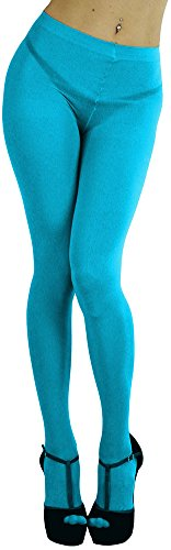 Baby Tights Blue - ToBeInStyle Women's Opaque Full Footed Panty Hose Leggings Tights Hosiery - Turquoise - One Size: Regular
