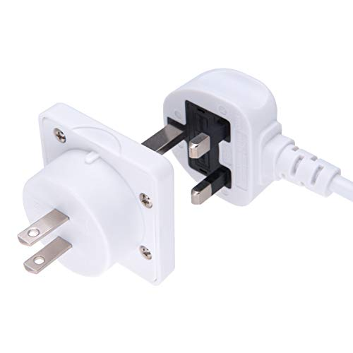 UK to US Adapter England American Socket 3 Pin to 13 Amp 2 Pin Plug Type G to Type A B | International Universal USA…