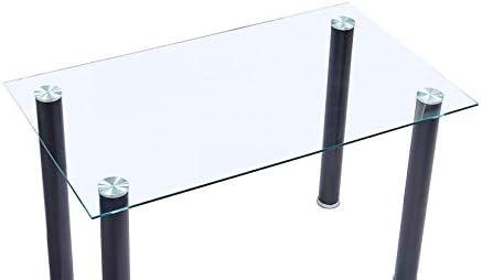 Mobelcenter - Mesa Comedor Cristal Transparente - 140x75cm (0856): Amazon.es: Hogar