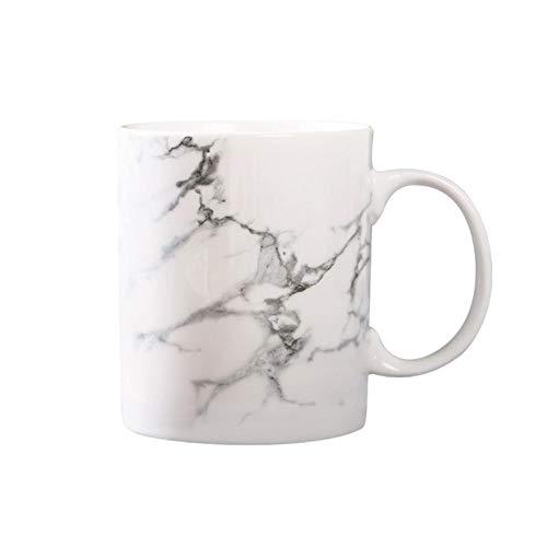 301 400ml Marble Effect Ceramic Mug Tea Cup Milk Home Office Fantastic Gift Friends - Mugs -