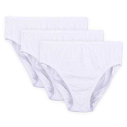 - Wingslove 3 Pack Women's High-Cut Brief Plus Size Panty Comfort Soft Cotton Underwear Assorted (White,6)