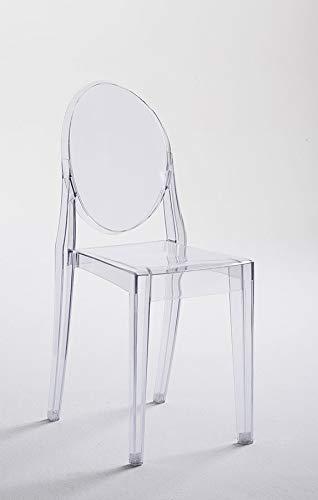 Kasalinea - Silla de diseño Transparente de policarbonato ...
