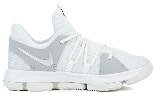 Nike KD 10 Preschool 918364 100 White (1.5y) (Sneakers Girls Durant Kevin For)