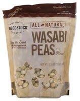 Woodstock Natural Wasabi Peas -- 7.5 oz - 2 pc
