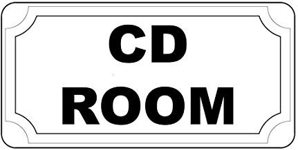LilithCroft99 Cd Room Black Retro Vintage Style Metal Plate Gift Sign Funny Metal Signs Vintage Retro Metal Tin Sign Plate for Bedrooms Decor