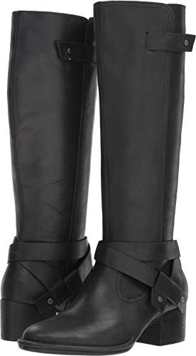 UGG Women's W BANDARA Tall Boot Fashion, Black, 8.5 M US (Ugg Leather Boots)