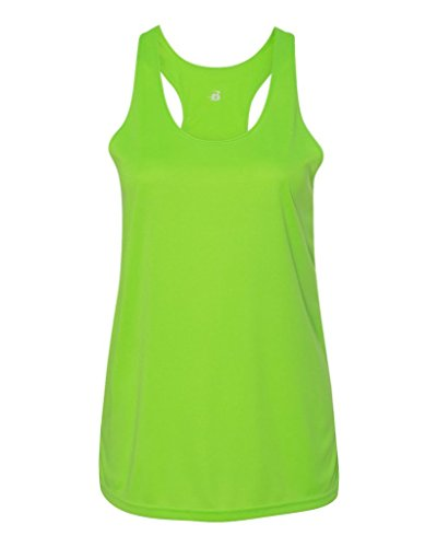 100% Polyester Moisture Wicking Women's Racerback Tank Top Lime XL (Tank Lime Green Racerback)