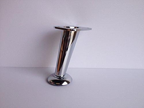5'' Slanted Metal Chrome Furniture Leg (Set of 4)