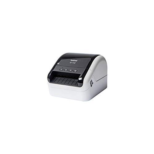"""Brother QL1100 - Impresora de Etiquetas Profesional de 4"""", 69 Etiquetas por Minuto, USB, 300X600ppp, Corte Automático, Gris y Negro"""