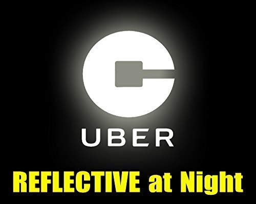 6 Reflective glow in the dark rideshare sticker decal logo for the rear or side window of your rideshare car van suv