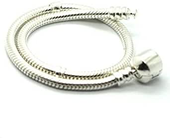 """Popular Silver Plated 7.5"""" Bead Bracelet with Round Barrel Clasp - Italian Style High Polish"""
