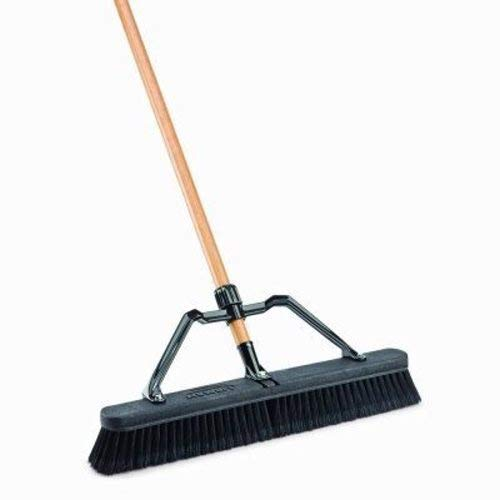 Libman Commercial 847 Smooth Surface Industrial Push Broom with Brace, 24'' (Pack of 4) by Libman Commercial (Image #1)