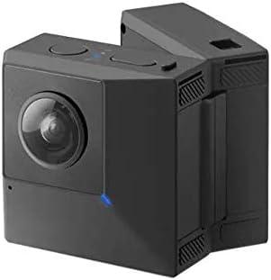 アクションカメラ HDスポーツ動画ブログカメラ折り畳み式5.7K 180°3D VR 360°パノラマ写真肉眼安定化 スポーツカメラ (Color : Black, Size : One size)