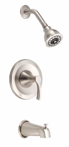 Danze D510022BNT Antioch Single Handle Tub and Shower Trim Kit, 2.5 GPM, Valve Not Included, Brushed Nickel